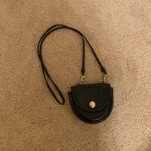 90s Vintage Coach Black Belt Bag